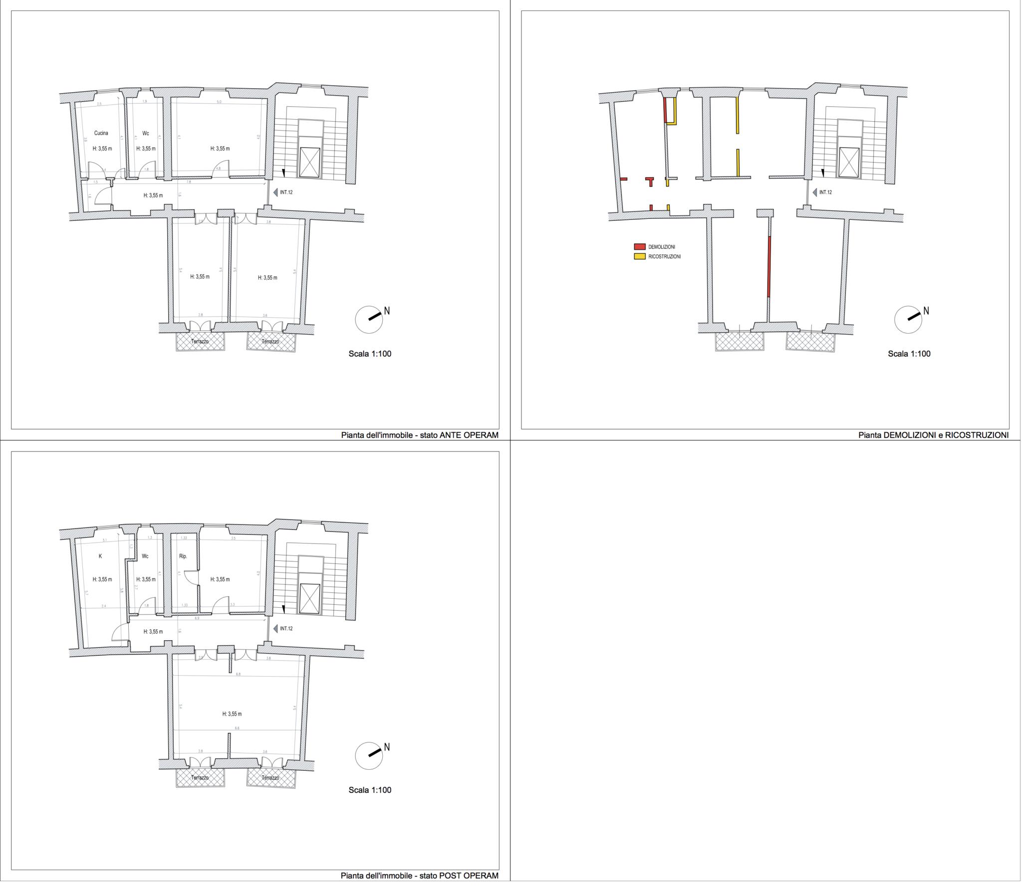 Planimetria dell'appartamento in Prati